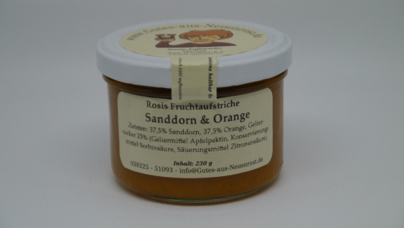 Sanddorn mit Orange